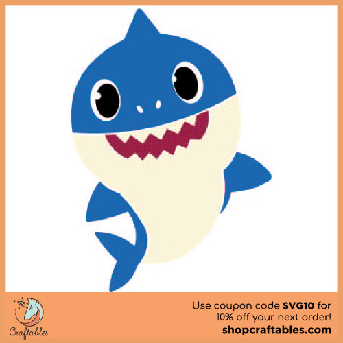 Free Baby Shark SVG Cut File | Craftables