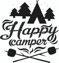 Free Happy Camper SVG Cut File