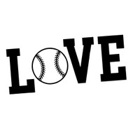Free Love Baseball SVG Cut File
