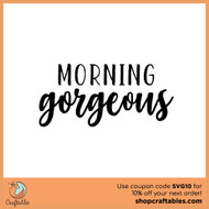 Free Morning Gorgeous SVG Cut File