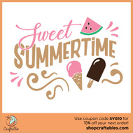 Free Sweet Summertime SVG Cut File