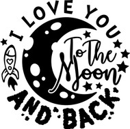Free Love You to the Moon and Back SVG Cut File