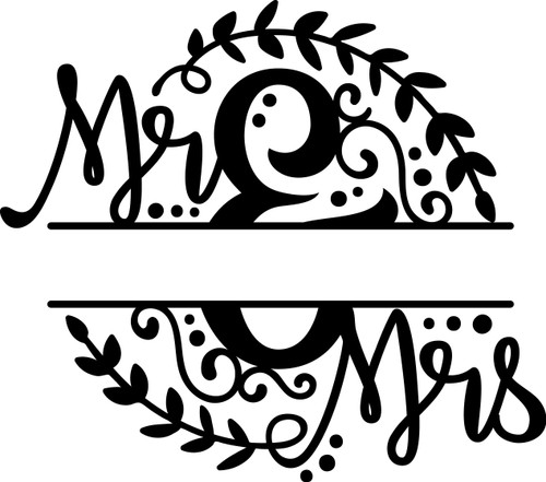 Free Mr and Mrs SVG Cut File