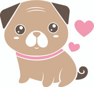 Free Pug SVG Cut File