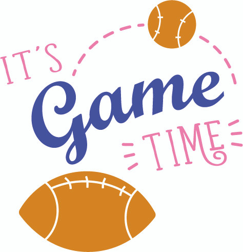 Free It's Game Time SVG Cut File