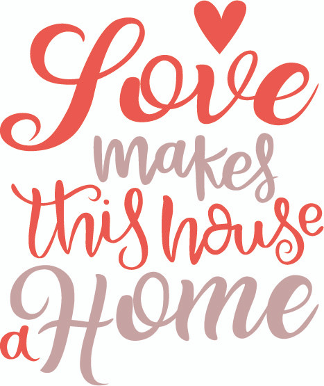 Free Love Makes This House a Home SVG Cut File