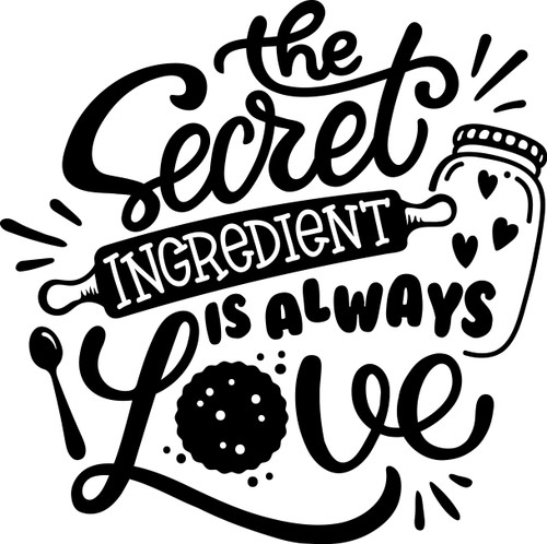 Free The Secret Ingredient is Always Love SVG Cut File