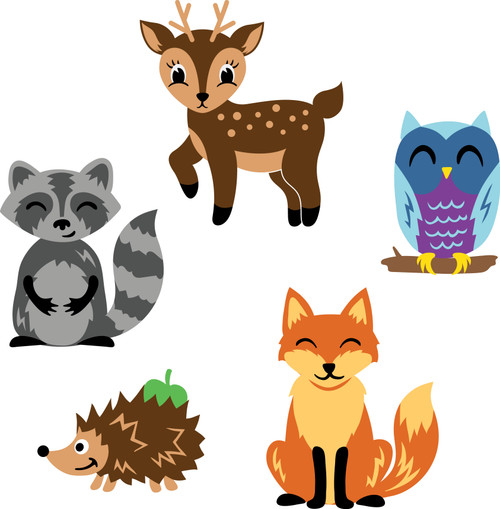 Free Woodland Creatures SVG Cut File