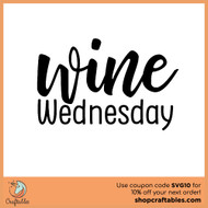 Free Wine Wednesday SVG Cut File