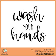 Free Wash Your Hands SVG Cut File