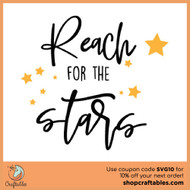 Free Reach For The Stars SVG Cut File