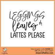 Free Leggings and Leaves SVG Cut File