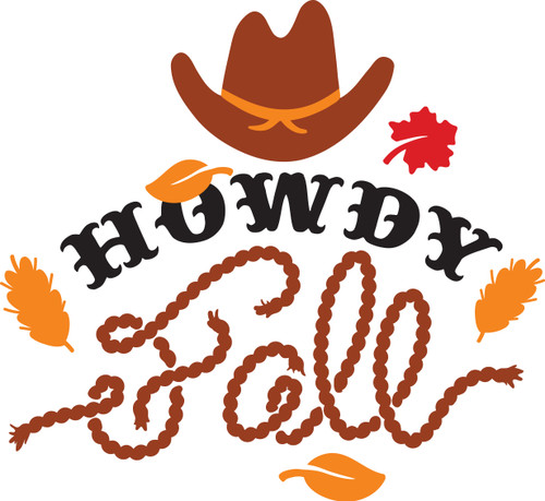 Free Howdy Fall SVG Cut File