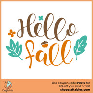 Free Hello Fall SVG Cut File