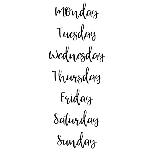 Free Days of the Week SVG Cut File