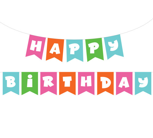 Free Birthday Banner SVG Cut File