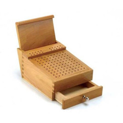 Wooden Bur Box With Plier Stand And File Holder Jewellers Rotary Tool Holder
