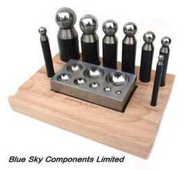 Doming Block And Punch Set 9 Piece