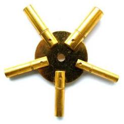 Clock Key Brass Spider Odd