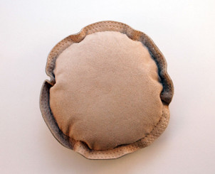 "Leather Sandbag 10"" Round Jewellers"