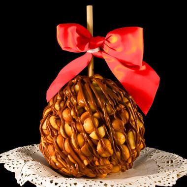Macadamia Madness Caramel Apple by DeBrito Chocolate Factory