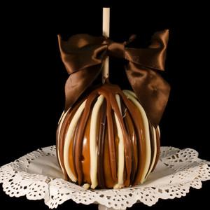 Triple Chocolate Treat Caramel Apple from DeBrito Chocolate Factory