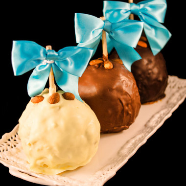 Coconut Almond Joy Caramel Apple from DeBrito Chocolate Factory.