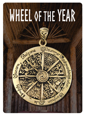 Wheel of the Year Wiccan Sabbats Jewelry
