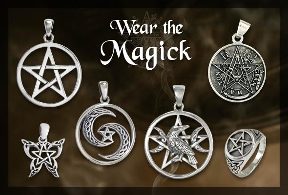 Wiccan Pentacle Pendants and Pagan Pentagram Jewelry