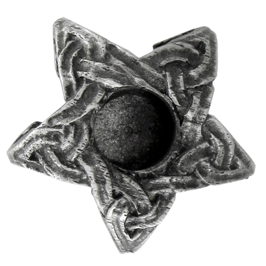 Pewter Mini Pentacle Candle Holder