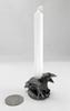 Mini Pewter Raven Rune Candle Holder