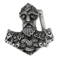 Pewter Thors Hammer Belt Buckle