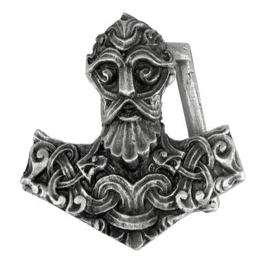 Pewter Thors Hammer Belt Buckle