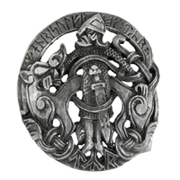Pewter Tyr Belt Buckle