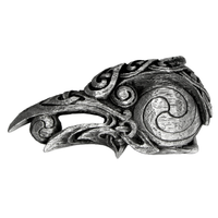 Pewter Raven Belt Buckle