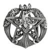 Pewter Crescent Raven Pentacle Belt Buckle