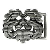 Pewter Oak King Belt Buckle