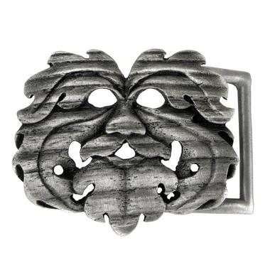 Pewter Oak King Belt Buckle