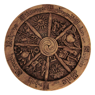 Small Wheel of the Year Plaque