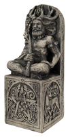 Seated Horned God Statue Wicca Pagan