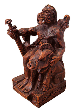 Seated Freyr Statue