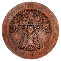 Large Tree Pentacle Plaque