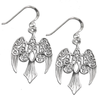 Sterling Silver Goddess Morrigan Raven Earrings