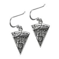 Sterling Silver Samhain Sabbat Dangle Earrings