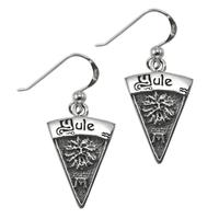 Sterling Silver Yule Sabbat Dangle Earrings