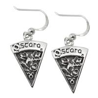Sterling Silver Ostara Sabbat Dangle Earrings