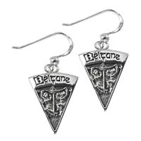 Sterling Silver Beltane Sabbat Dangle Earrings