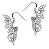 Sterling Silver Faerie Pentacle Earrings