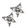 Sterling Silver Butterfly Pentacle Stud Earrings