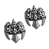 Sterling Silver Celtic Goddess Morrigan Raven Stud Earrings